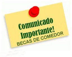 BECAS DE COMEDOR 2018-2019 – Colegio María Inmaculada